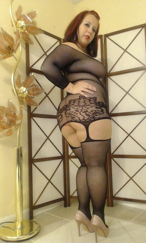Chubby matures in heels and stockings